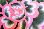 "Flower panels that ""we are Wind God & Thunder God"""